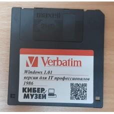 """Дискета 3,5"""" Microsoft Windows 1.01"""