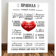 """Панно настенное """"Правила дома"""""""